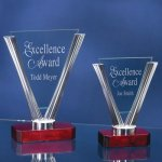Triangle Glass Achievement Award Trophies