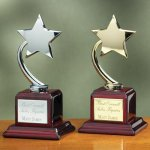 Shooting Star on Piano Finish Base Achievement Award Trophies