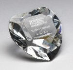 Corporate Crystal Heart Desk Accessory Boss Gift Awards
